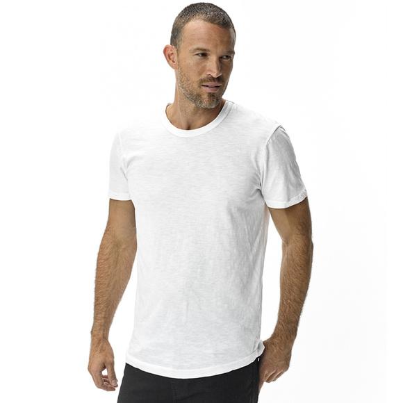 47049109 Buck Mason Shirts | Slub Curved Hem Tee White | Poshmark